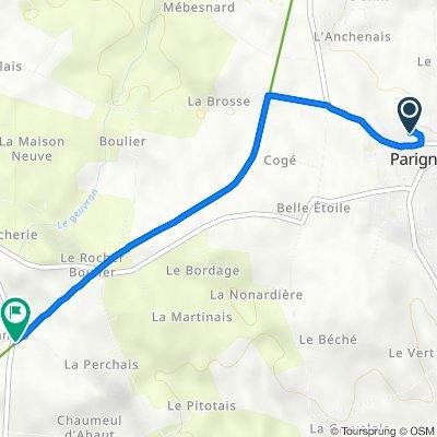 De 28 Rue des Écoles, Parigné à 4 La Galoderie, Le Châtellier