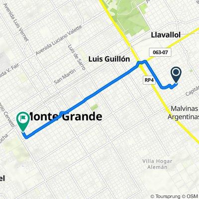 De Mercedes 1770, Llavallol a Alejo Ortega 353, Monte Grande