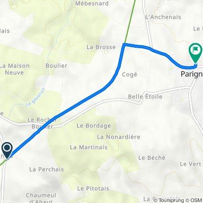 De 4 La Galoderie, Le Châtellier à 2 Chemin de la Fontaine, Parigné