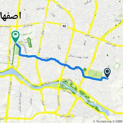 Route to باغ گلدسته, اصفهان