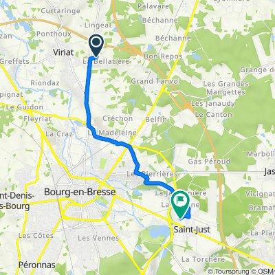 De Chemin de Chassignole, Viriat à Rue de Franche-Comté, Bourg-en-Bresse