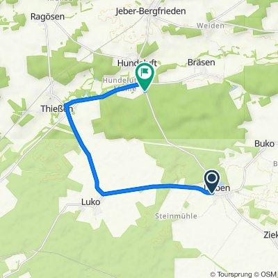Dübener Dorfstraße 11B, Coswig (Anhalt) nach L121, Coswig (Anhalt)