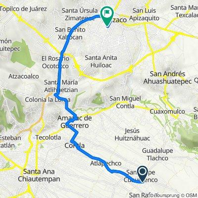 De Calle Benito Juarez 56, San Felipe Cuauhtenco a Calle Emilio Carranza 305, Apizaco