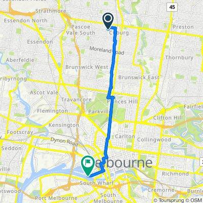 16 Alice Street, Coburg to 938 Collins Street, Docklands