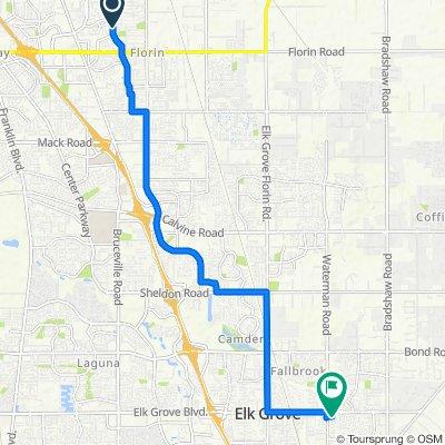 6913 Briggs Dr, Sacramento to 9320 Elk Grove Blvd, Elk Grove