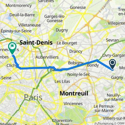 De 3 Boulevard de l'Est, Le Raincy à 9F Rue de la Sablière, Genneviliers