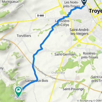 De Rue du Docteur Roux 49, Troyes à Les Grandes Vallées 5, Laines-aux-Bois