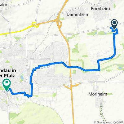 Hornbachstraße 13, Bornheim nach Weißenburger Straße 2B, Landau in der Pfalz