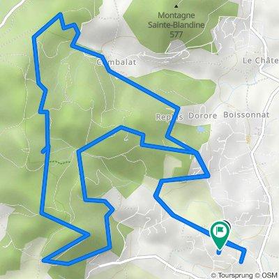 De Montée des Varennes 381, Peaugres à Route de la Besse 352, Peaugres