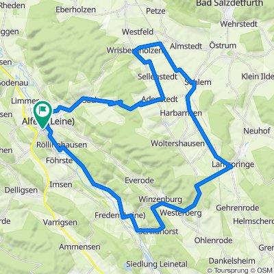2-Berge-Tour Alfeld-Sack-Wrisbergholzen-Sehlem-Lamspringe-Winzenburg-Freden-Alfeld
