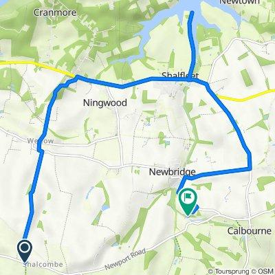 Route to Newport Road, Calbourne, Newport