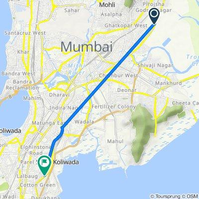 Eastern Express Highway, Mumbai to Zakeria Bander Road 4, Mumbai