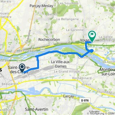 Itinéraire vers 38 Rue des Écoles, Vouvray