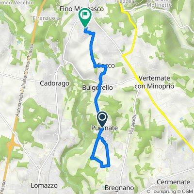 Da Via Lombardia, Puginate a Via Monte Adamello 6, Fino Mornasco
