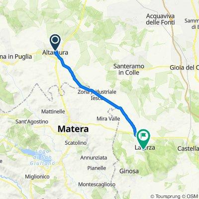 Da Via Enrico Toti 32, Altamura a Via Roma 15, Laterza