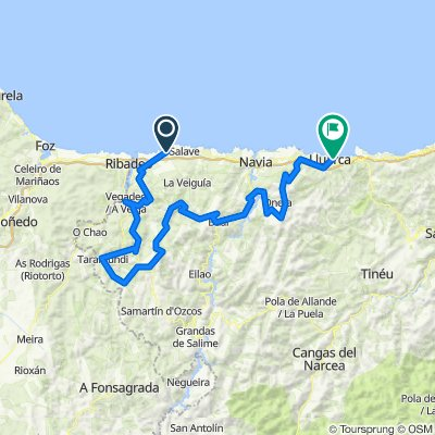Tapia de Casariego-Luarca. 4500m en 169km