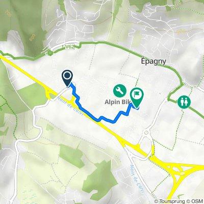 De 45 Route de Bromines, Epagny à 312 Rue de Mionnaz, Epagny