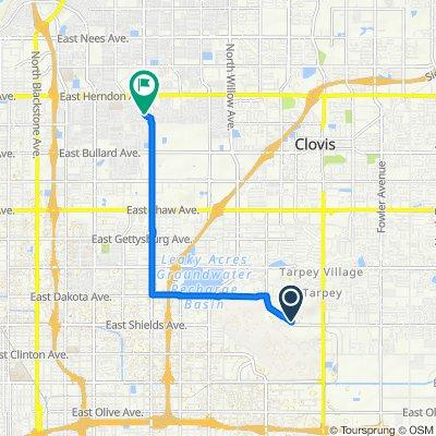 3301–3391 N Gap Dr, Fresno to 1689 E Los Altos Ave, Fresno