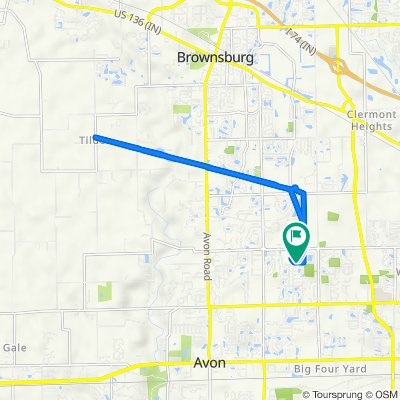 8647–8711 Ingram Ln, Avon to 8618 Ingram Ln, Avon