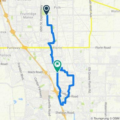 71st Street 5550, Sacramento to Steinbeck Way 8124, Sacramento