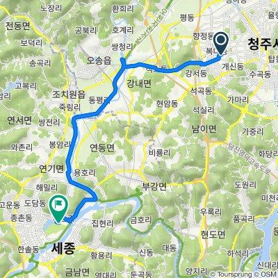От Bokdae-dong 30-10, Cheongju до Nam-myeon 922, Yeongi-gun