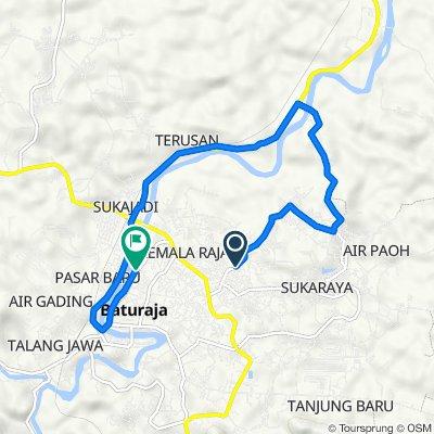 Jalan Kolonel Wahab Sarobu No.96B, Kecamatan Baturaja Timur to Jalan Dokter M. Hatta 1023b, Kecamatan Baturaja Timur