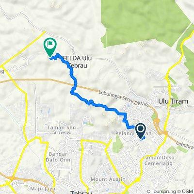 Jalan Cantik 6 69, Ulu Tiram to Jalan Impian Murni