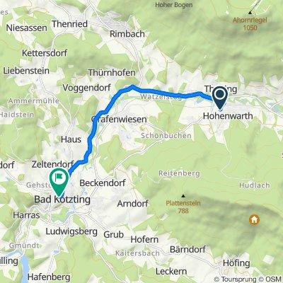 Pointäckerstraße 3, Hohenwarth nach Kupferschmiedgasse 5, Bad Kötzting