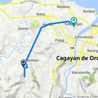 Route to Eagle Street 152, Cagayan de Oro