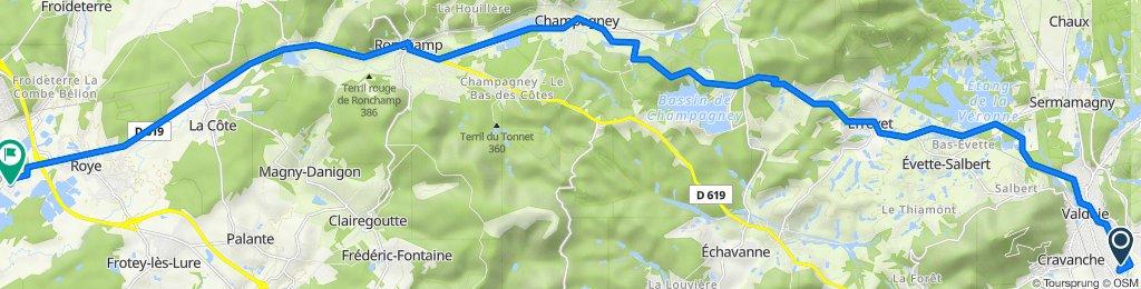 De 9 Rue des Maraîchers, Belfort à 2 Rue des Berniers, Lure