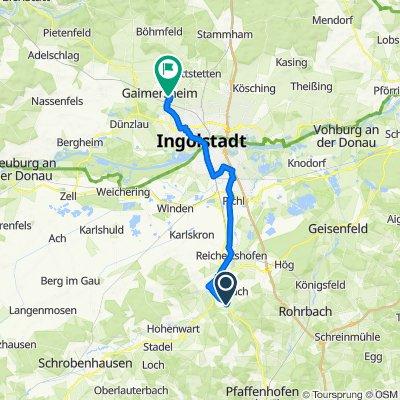 Maushof Allee 13, Pörnbach nach Kammühlweg 60A, Gaimersheim