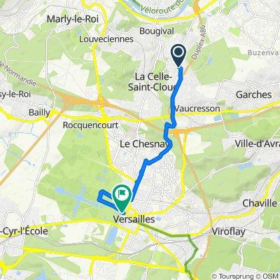 De Allée du Cloître 5, La Celle-Saint-Cloud à Avenue du Sud, Versailles
