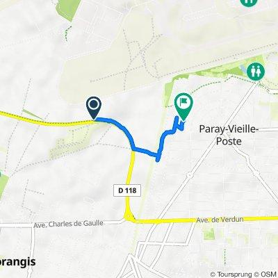 De Route de Déviation, Morangis à 12 Rue Germaine et Roger Lefèvre, Paray-Vieille-Poste