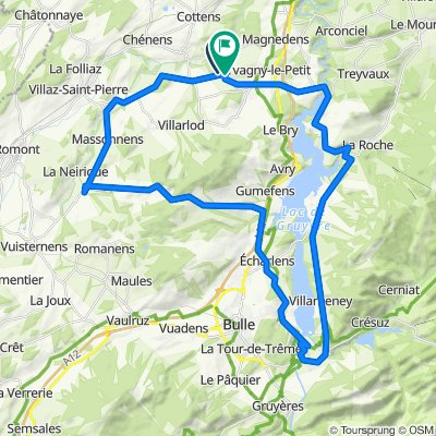 Route d'Estavayer, Farvagny nach Route de Grenilles 57, Farvagny