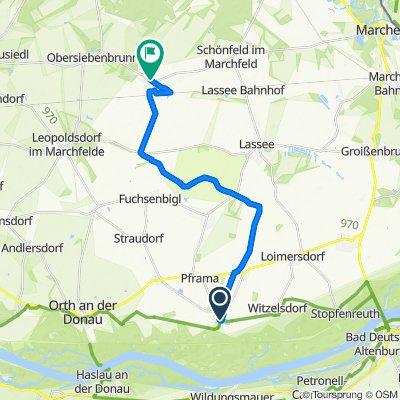Mühlweg 4, Eckartsau nach Sportplatzstraße 3a, Untersiebenbrunn