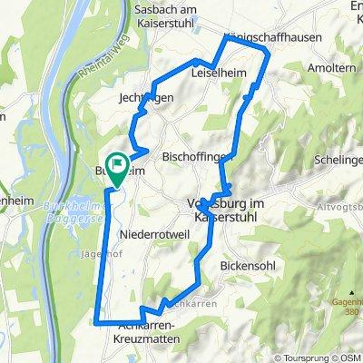 Rheinstraße 7, Vogtsburg im Kaiserstuhl nach Sigolsheimerstraße 16, Vogtsburg im Kaiserstuhl