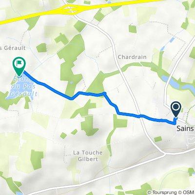Itinéraire à partir de 16 Rue du Puits Rimoult, Sains
