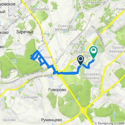 От Никулинская улица, 5 к1, Москва до улица Академика Анохина, К3АБ, Москва