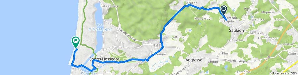De Route de Seignosse 18, Saubion à Rue des Landais 94, Soorts-Hossegor