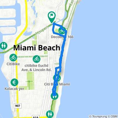 2300 Pine Tree Dr, Miami Beach to 2300 Pine Tree Dr, Miami Beach