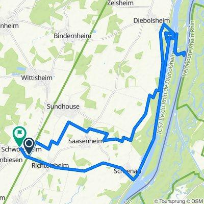 Route nach 10 Rue de l'École, Schwobsheim