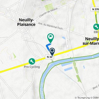 De Boulevard Gallieni, Neuilly-Plaisance à 21ter Rue Marguerite, Neuilly-Plaisance