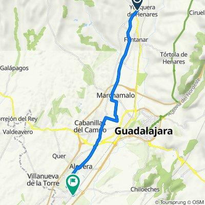 De Calle Palacio 42, Yunquera de Henares a Avenida del Ferrocarril 59, Azuqueca de Henares
