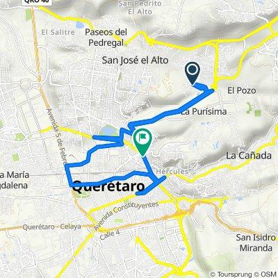 Ruta a Anillo Vial Fray Junípero Serra, Santiago de Querétaro