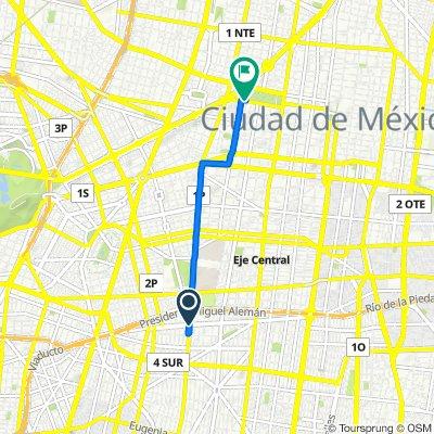 Calle Casa Del Obrero Mundial 426, Ciudad de México to Avenida Juárez 751, Ciudad de México