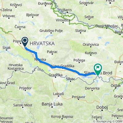 Gornja Gračenica to Trg Ivane Brlić Mažuranić 15, Slavonski Brod