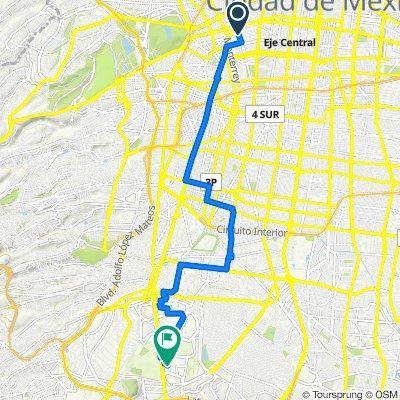 Ruta a Avenida Insurgentes S 3000, Ciudad de México
