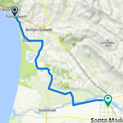 Leg 2: Pismo Beach to Santa Maria