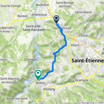De 8 Allée du Chêne de la Dame, La Fouillouse à 15A Rue de l'Industrie, Unieux