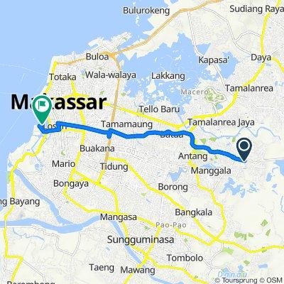 Lorong 3 19, Kecamatan Manggala to Unnamed Road
